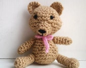 Sweetie Bear pattern - amigurumi teddy bear crochet PDF instant download DIY tutorial cute bear pattern crochet bear pattern easy amigurumi