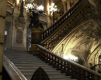 Paris Photography, Opera de Paris Garnier, Opera Staircase, Paris Opera House, Paris Chandelier Art, Paris Opera Stairs, Paris Architecture