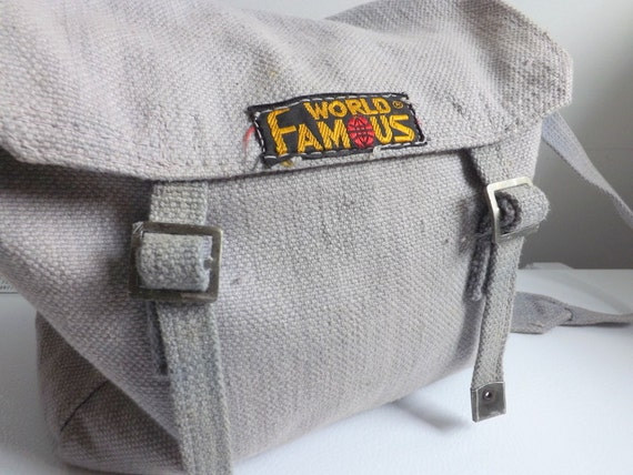 90s Canvas Purse World Famous Purse Canvas Cross Body Bag