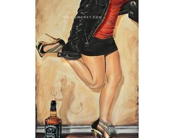 JEREMY WORST Dancing With the Devil edit Original Artwork Signed Fine art Print poster