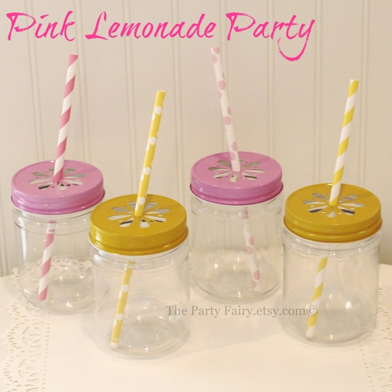 Lemonade Jars For Parties Mason Jar 10 Lemonade Stand