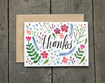 Thanks Spring Floral Card