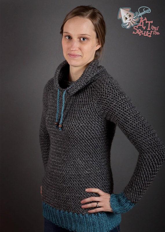 Crochet Sweater Pattern Women Plus Size Top Down By