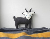 the Goat  - plush wool pillow