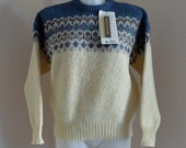 Vintage Sweater, Vintage Icelandic Sweater, 1970s Sweater, Wool Sweater, Vintage 1970s Sweater, Ski Sweater, Ladies Sweater, Mens Sweaters