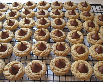 Peanut Butter Blossom Cookie, Peanut Butter Kiss Cookie, Hersey's Kiss Cookies, Anniversary Gift, Peanut Butter and Chocolate, Peanut Butter