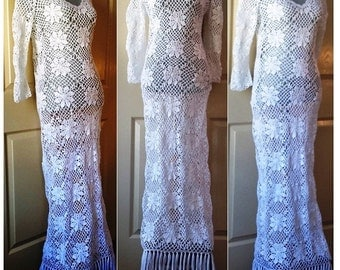Maxi Dress  Crochet Cotton Made to Order