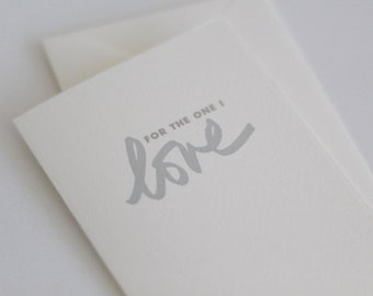 For the one I love // card for the one that I love  // anniversary card // love card // valentines day cards // anniversary card
