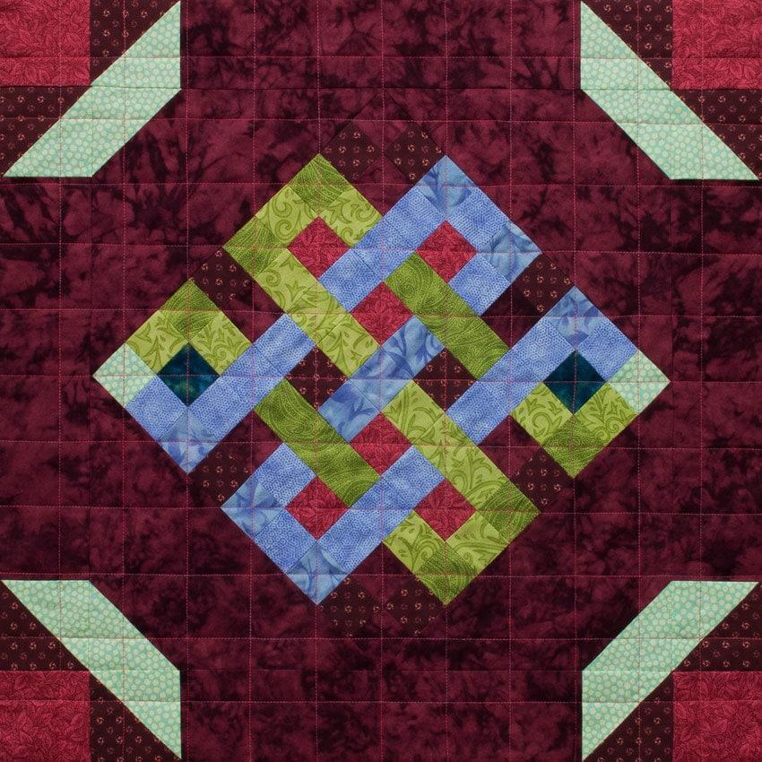 Mosaic Endless Knot Patchwork Quilt Block Pattern