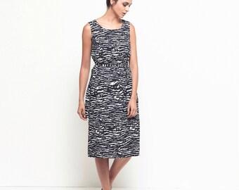 Black dress, short day dress, sundress, printed cotton dress, round neck dress, linen dress, loose fit midi skirt, belted dress, party dress