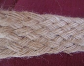 CINDY RESERVED LISTING 10 Yards Jute Tan Braided, Brand New, 9 Strands, Crafts  Sewing Supplies, Beach Theme, Wedding, Wedges, Shoes Per Yd