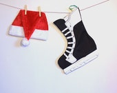 Hockey Skate Christmas Stocking- Sport Theme Holidays