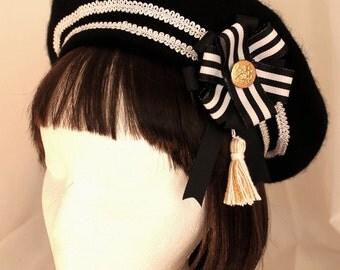 Black Sailor Beret