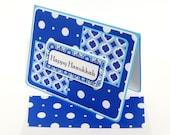 Hanukkah Polka Dots Card with Matching Embellished Envelope