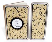 Mini Moleskine Journal with Matching Bookmark- Scrabble