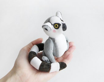 Ring Tail Lemur Lui - Teddy Friend - 4inches
