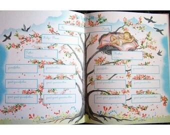 1960s Vintage Baby Record Book Baby's First Diary Mid Century Baby Shower Gift Printed in Japan