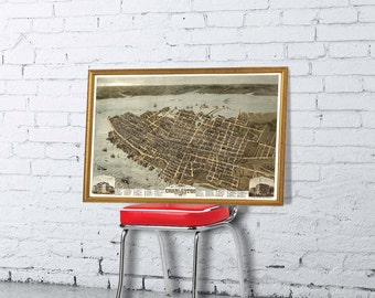 Charleston poster - Panoramic  view of Charleston - Bird's eye view  - Fine archival print