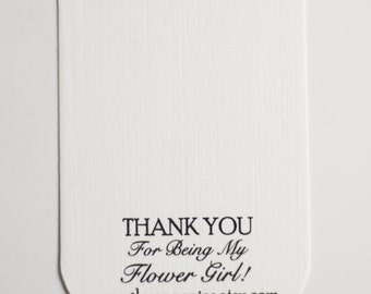 NOT for Individual Purchase - Thank You For Being my Flower Girl Jewelry Add on Card, Jewelry Gift, Flower Girl Gift Packaging, Wedding Gift