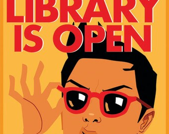 Jujubee - Library Postcard