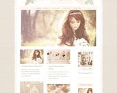 Responsive Wordpress Theme - Blog Design - Premade Wordpress Template - Pretty Shabby Chic Romantic Feminine Beautiful Vintage Pink Rose