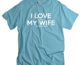 Surfing Shirts for Men Surfing t shirt anniversary gift for husband from wife birthday gifts surfer I LOVE it when MY Wife® Brand Tshirts
