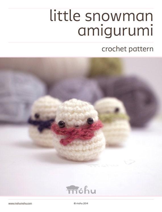 amigurumi pattern crochet snowman ornament