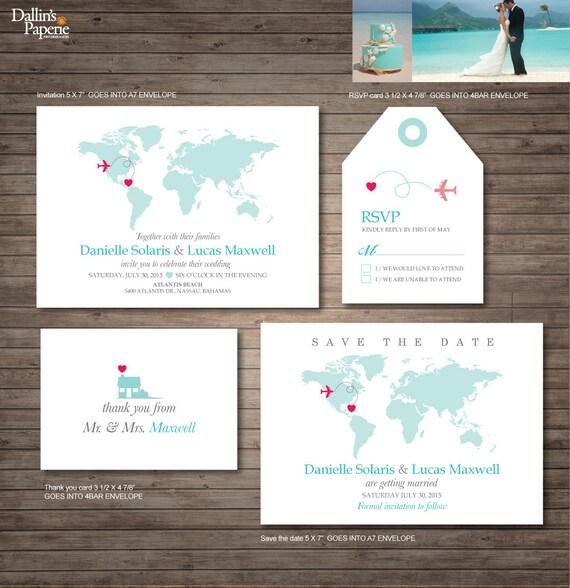 Destination Wedding Invitation Printables Beach By