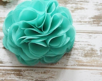 Aqua Flower Hair Clip, Wedding, Bridal Hair Flower, Mint Green Hair Piece, Hair Accessories, Bridesmaid, Fascinator, Flower for hair