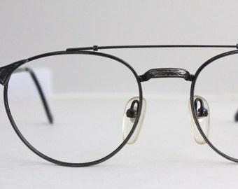 Vintage Pewter Wire Oxford Eyeglass Frames
