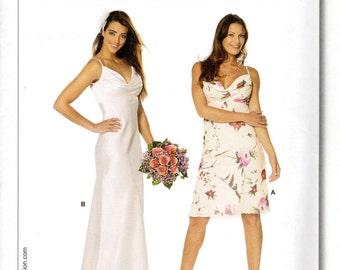 Women's Sleeveless, Spaghetti-Strap Dress Pattern - Size 6, 8, 10, 12, 14, 16 - Burda 7698 uncut