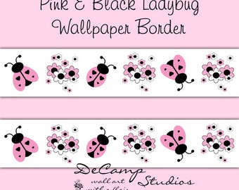 PINK GREY GRAY Ombre Chevron Wallpaper Border Decal Girl