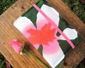 Wallet / Clutch – Handmade – Beautiful – Green / Rose - Flower