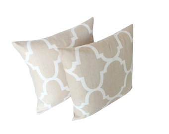 Two Kravet Riad Pillow Covers - Fabric on Both Sides