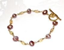 Ethiopian Opal Bracelet Opal Jewelry October Birthstone Keshi Pearl Bracelet Station Bracelet Welo Opal Pearl And Opal Gemstone Jewelry