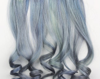 10 Pieces Lavender Clip in Extensions. 100% Human Hair, 18 inches long, 1.5 inches width & double wefted.