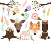 Spring Woodland Clip Art Graphics