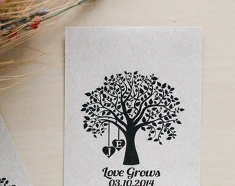 Love Grows Rubber Stamp,  Seed Packet Rubber Stamp, Wedding Favor Rubber Stamp, Seed Favor Rubber Stamp, Wedding Rubber Stamp