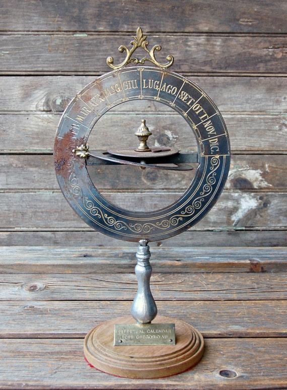 Perpetual Calendar Vintage : Rare vintage perpetual calendar pope gregorio vii
