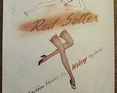Wolsey, 1949, vintage, ad, original, nylons, fashion, English, woman, stockings, advertisement, free shipping, paper, ephemera