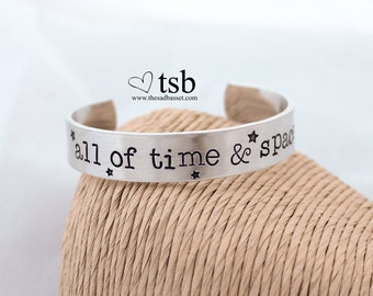All of Time & Space Stamped Cuff Bracelet | Doctor Who Jewelry | Tardis Jewelry | Tardis Bracelet | Dr Who Bracelet | Hand Stamped Cuff