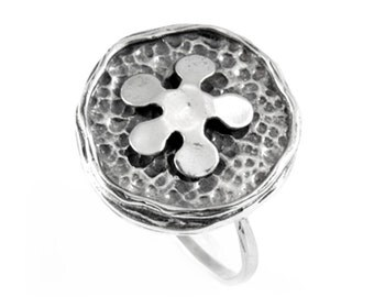 Women's Flower 925 Sterling Silver Ring Handcrafted Band Size 5 6 7 8 9 10 New, silver flower ring, 925 silver ring, handmade silver ring