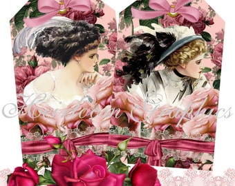Harrison Fisher Download Vintage Harrison Fisher Victorian Woman Tags