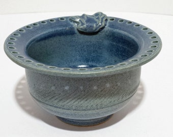 Jewelry Bowl Earring Tree Ring Dish Jewelry Organizer Earring Organizer Home Decor - Handmade Blue Pottery Ceramics - Unique Gift for Her