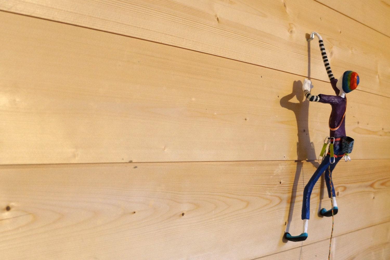 rock climber wall art  paper mache  u0026 wire sculpture  climbing