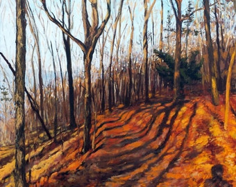 """Original Oil Landscape Painting, Northern Shadows, Oil on 24x36"""" canvas, by Sean Bodley"""