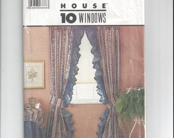 Simplicity 8419 Pattern, Instructions for 10 Window Treatments, From 1987, Shirred, Theatre, Opera, Tab Curtains, 4 Shades, Vintage Pattern