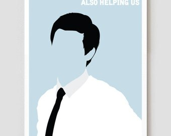"""Workaholics Adam Art Print / Poster """"Help Us Help You Help Yourself While Also Helping Us"""" 11"""" x 17"""""""