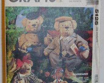 McCalls Crafts Pattern Elderbearies Stuffed Bears by Faye Wine