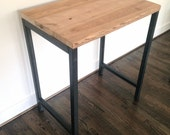 "The ""Monterey"" Reclaimed Wood Standing Desk - Reclaimed Wood & Steel - Standing Desk - Custom Height"
